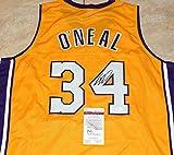 SHAQ SHAQUILLE O'NEAL Signed LA LAKERS #34 custom JERSEY + JSA Witness COA