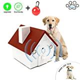 Abby Newest Upgraded Value Pack, Super Ultrasonic Anti Barking Device- Bark Control Deterrents- Training tools- No Harm- Hanging Birdhouse Design Training Dogs, FREE LED CLIP-ON PET SAFETY LIGHT