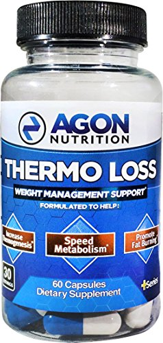 Thermo Loss Fat Burner - 30 Day Serving - Caffeine Free - Stimulant Free, No Jitters, No Energy Crashes - Formulated with Raspberry Ketone, Green Tea Extract, Cayenne, L-Carnitine - Agon Nutrition - Potency Green Tea