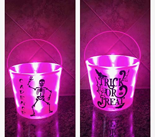 Light Up Trick Or Treat Bucket - trick or treat bucket - trick