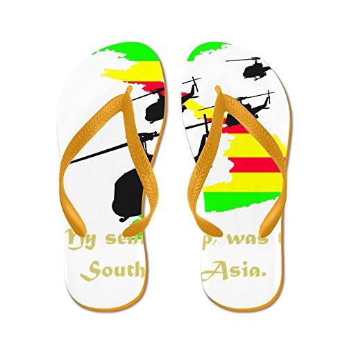Cafepress Senior Resa - Flip Flops, Roliga Rem Sandaler, Strand Sandaler Apelsin