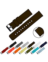 BARTON Quick Release - Choice of Colors & Widths (18mm, 20mm or 22mm) - Chocolate Brown 20mm Watch Band Strap