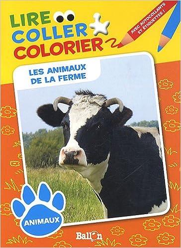 Coloriage Animaux De La Ferme Pdf.Telechargement Du Format De Texte Ebook Lire Coller Colorier