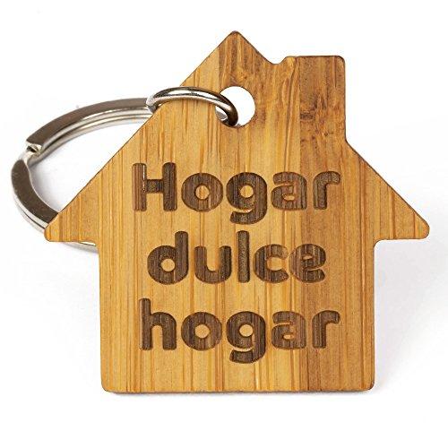 Llavero de Madera de Bambú Eco-Friendly Hogar, Dulce Hogar - Ideal como Regalo para Llaves Hogar, Llaves del Coche, Llaves de Casa: Amazon.es: Equipaje