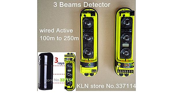 Triple Haz Fotoel/éctrico Alarma de Seguridad en el Hogar Detector de Infrarrojos Sensor para el Hogar Detector IR de Seguridad ABE-100