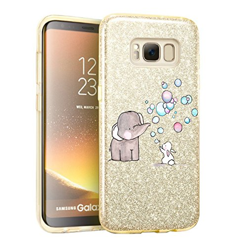 (Samsung Galaxy S8 Plus Case Soft Shell + Hard Shell Bling Sparkle for Galaxy S8 Plus (2, Samsung Galaxy S8 Plus))