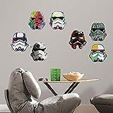 RoomMates RMK3591SCS Star Wars Artistic Storm Trooper Heads Peel & Stick Wall Decals