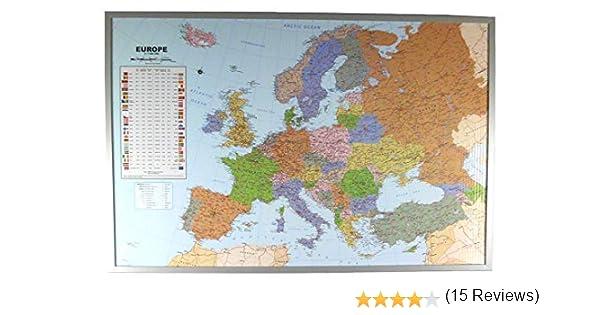 Político Mapa de Europa de Corcho-Pared Inglés: Mapa de Europa Para Fijar 1:7.000.000: Amazon.es: Libros