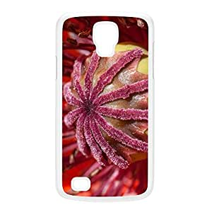 Center Poppy White Hard Plastic Case for Galaxy S4 Active by Mick Agterberg + FREE Crystal Clear Screen Protector