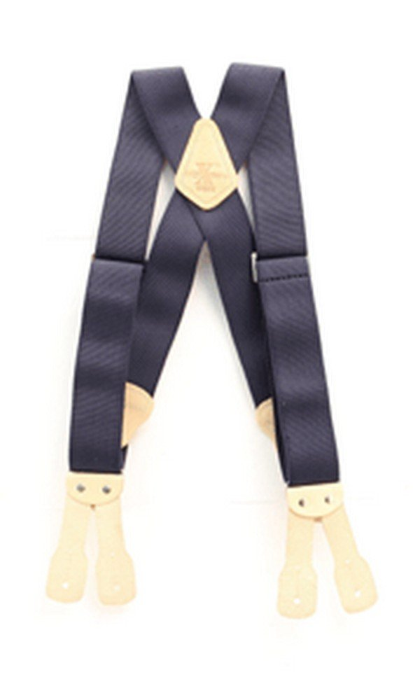 Nocona Men's HDX Nylon Button Suspenders, Navy, OS