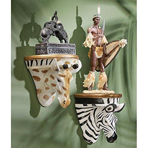 Madison Collection S/Giraffe & Zebra Wall Shelves