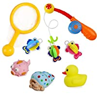 Bath Toys Fishing Game with Fishing Net Baby Bath Toys Bathtime Bathtub Toys ...
