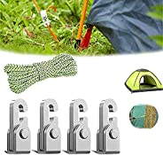 4Pcs/Pack Automatic Lock Hook,Self-Locking Free Knot Easy Tighten Rope,Pulleys Rope for Binding Hanging Fixing