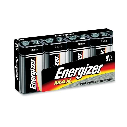 Wholesale CASE of 10 - Energizer Alkaline 9-Volt Batteries-Alkaline Energizer Battery, 9 Volt, 4/PK by EVE