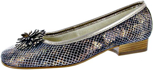 Shoes Ballerina Pewter Riva Plaque Sports Bronze Hwqqt7