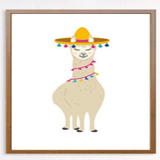 jzxjzx Animal de Dibujos Animados Lindo Alpaca decoración de ...