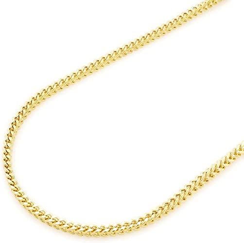 """14k Solid Yellow Gold High Polish Cable Link Pendant Necklace Chain 30/"""" 1.5mm"""