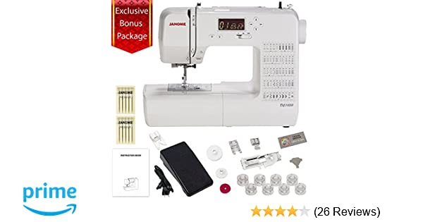 Amazon Janome DC400 Computerized Sewing Machine With 40040 Inch Cool Review Ikea Sewing Machine