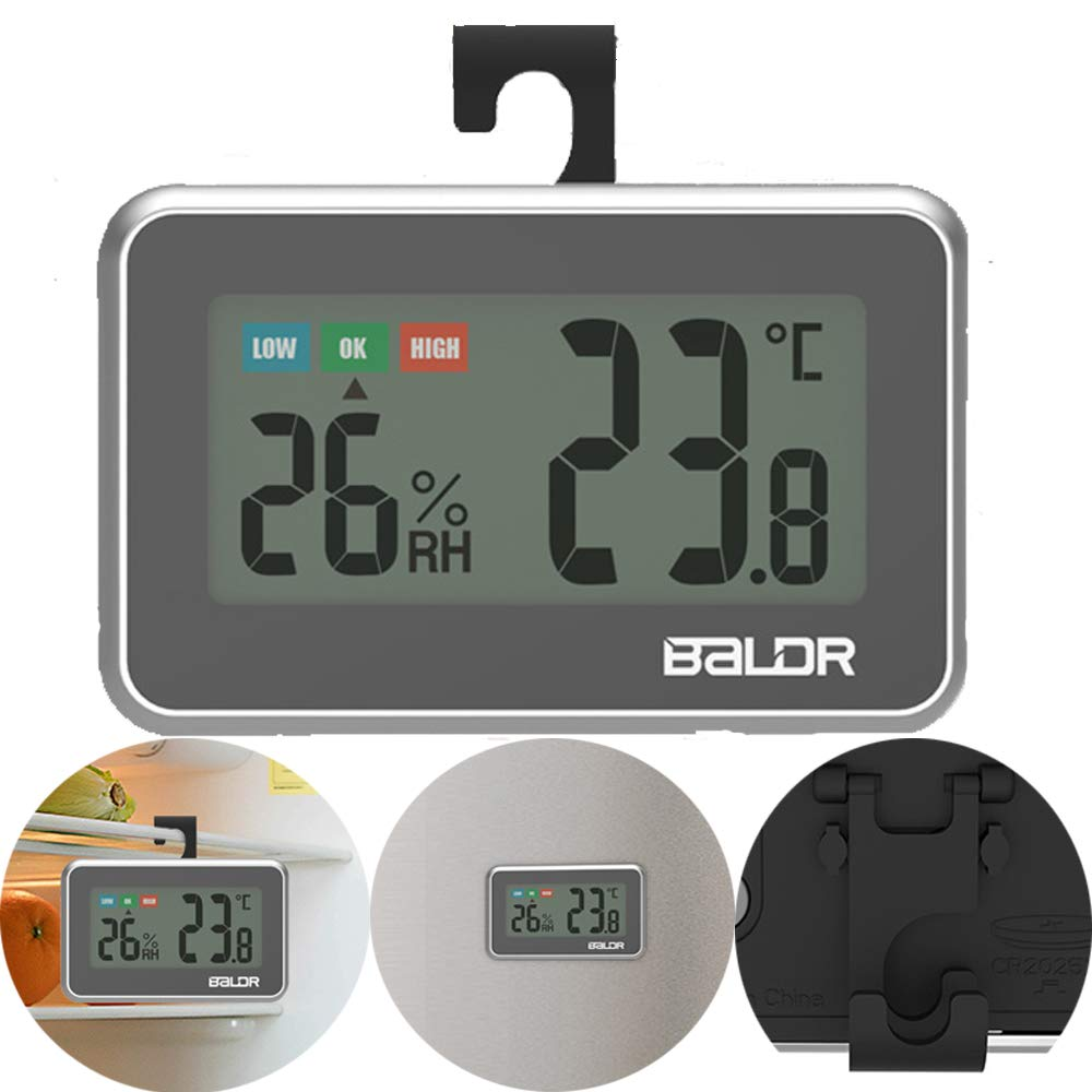 ALLOMN Termómetro Para Refrigerador, Termómetro Digital Con ...