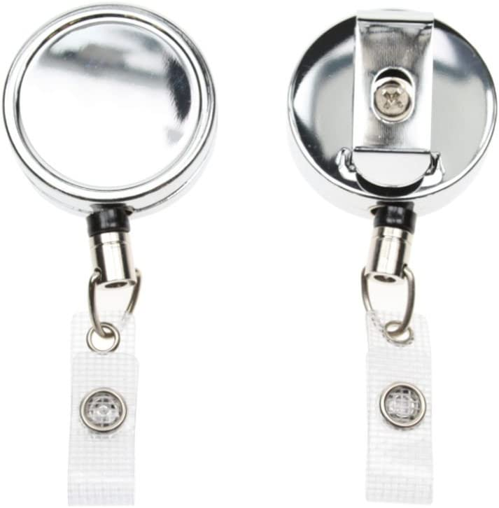 75 ID Card It Heavy Duty Nylon Cord ID Badge Reel Strap Clip AND Vertical Enclosed ID Card Badge Holder