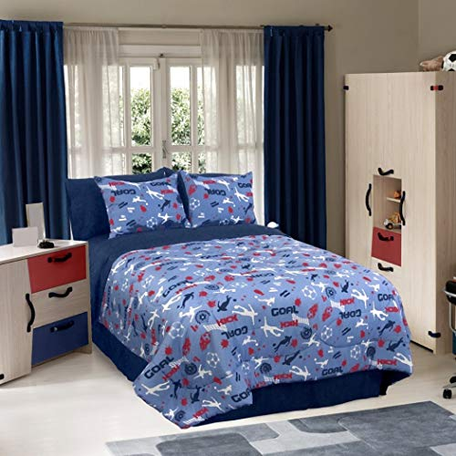 Veratex Soccer Locker Kids' Bedding Collection Full Comforter Set
