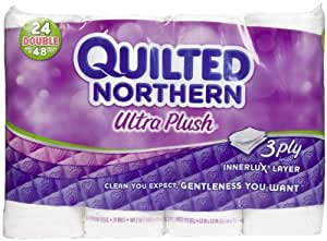 Quilted Northern Ultra Plush Double Roll Toilet Tissue, White