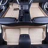 Big Hippo Car Floor Mat Compatible for Honda CR-V 2017 2018 Leather Front&Rear Waterproof Auto Floor Mat Carpet-All Weather Protector Mat 3 Piece Set (Beige)