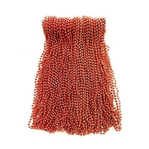 Orange Mardi Gras Beads (Orange Mardi Gras Beads 33 inch 7mm, 6 Dozen, 72)