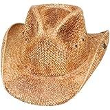 78881a1a Peter Grimm Ltd Men's Bret Studded Raffia Straw Cowboy Hat Brown One ...
