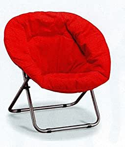 Amazon.com: Big Comfortable Red Teen Room Folding Accent ...