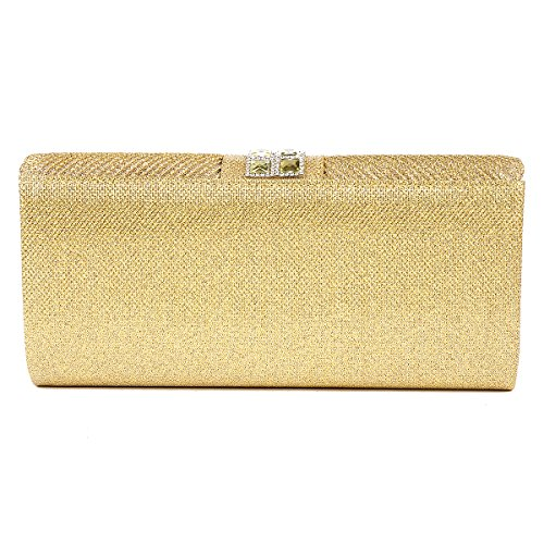 Evening Bag Womens Lurex Crystal Pleat Damara White Dazzling avSAxAq