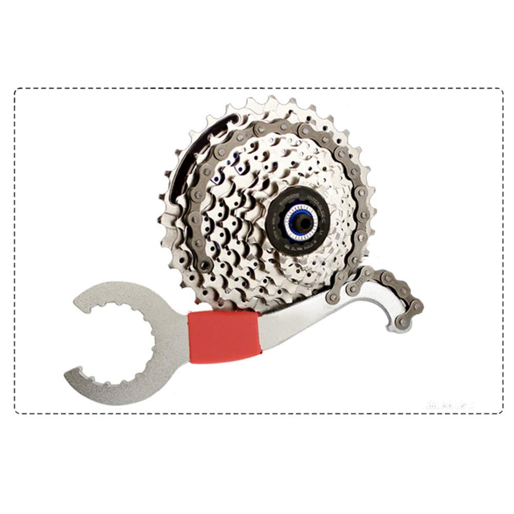 LIOOBO 3 en 1 Llave de Cadena para Bicicleta con Extractor de Casete para Instalar o Desmontar Pi/ñones del Cassette de Bicicleta Cambiar Cadena de Bicicleta