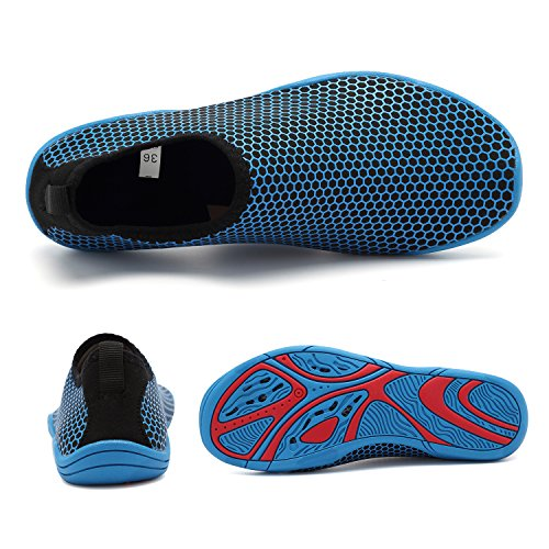 Slip Couple Water Yoga OUYAJI Shoes Woman Beach Play Non Lightweight Swimming Blue1 Walking Man Shoes wXZZ0tqHx
