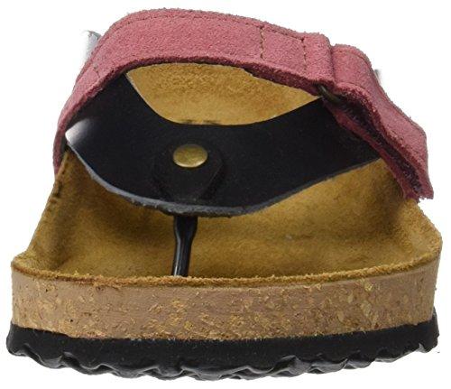 El Naturalista Ne65 Stream Oiled Lux Suede Waraji, Sandalias con Tira a T para Mujer Varios colores (Black / Rose)