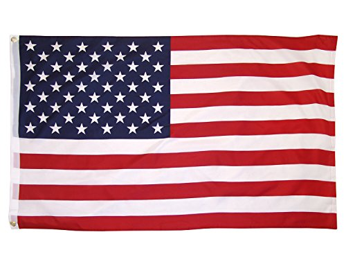 - LIFE ON American Flag, 3x5 Ft Polyester US Flag, Printed Fadeless Bright Clear Stars and Stripes, Enhanced with Brass Grommets, Light Weight for Outdoor Activities and Indoor Decoration