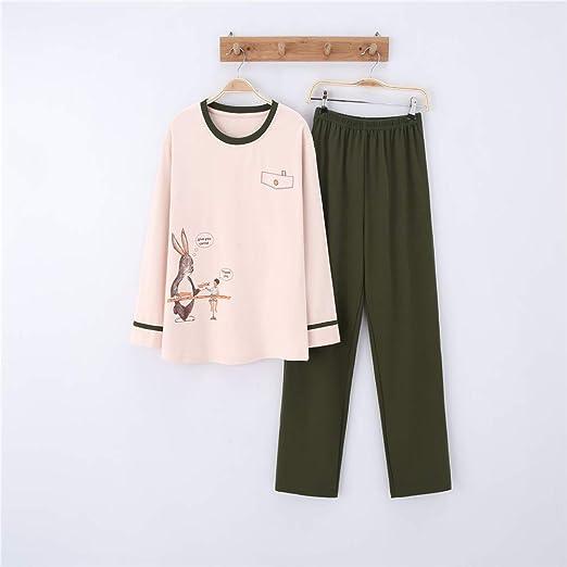Pijamas Mujer Algodon Ropa de Domir Elegante Manga Pantalon Largos ...