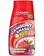 Colgate Liquid Gel 2-in-1 Kids Toothpaste and Mouthwash, Strawberry, 100 Milliliters