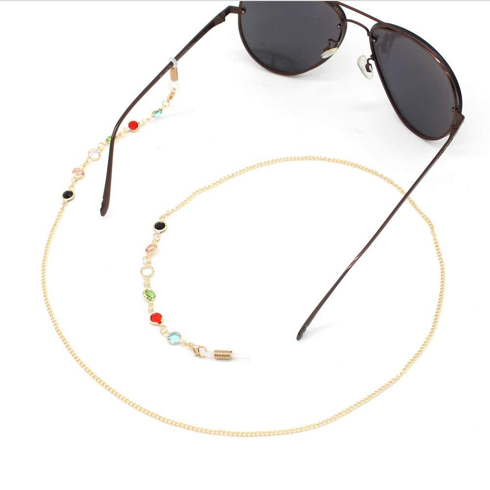 Black Colorful Beaded Eyeglass Holder for Women