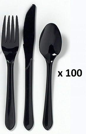 b856369dda5 Foodpacks Online Lot de 300 couverts en plastique jetables et robustes  Couteau