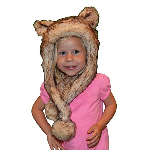 Little Girls Crystal Fox Faux Hat 1T-5
