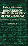 002: Remarks on the Philosophy of Psychology, Volume 2
