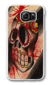 Dia Skull Custom Samsung Galaxy S6/Samsung S6 Case Cover Polycarbonate Transparent hjbrhga1544