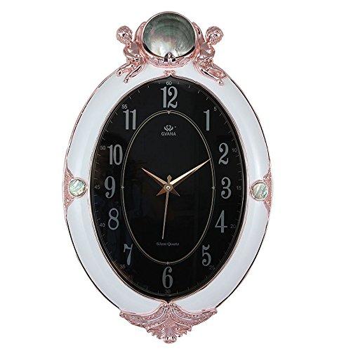 MLA Reloj de pared de estilo europeo pared créatrice del Salón reloj relojes Muette gran personalidad de la moda Moderno de la casa reloj decorativa: ...