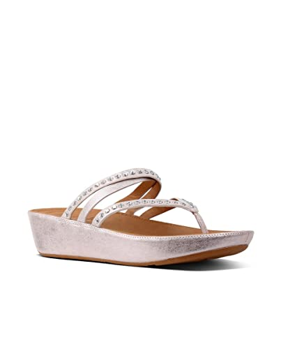c3707bfea6f1 FitFlop Linny Criss Cross Toe-Thong Crystal Sandals  Amazon.fr ...