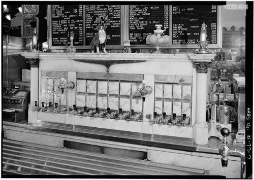 HistoricalFindings Photo: Zaharako's Ice Cream Parlor,329 Washington Street,Columbus,Indiana,in,HABS,7