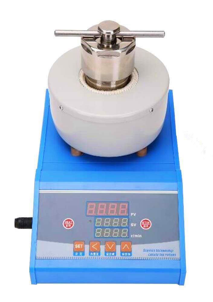 YUCHENGTECH Hydrothermal Synthesis stirring reactor Lining PTFE High pressure Autoclave Reactor Max Surface Temperature 380℃ 100-2500 rpm/min (150ml, 110V)
