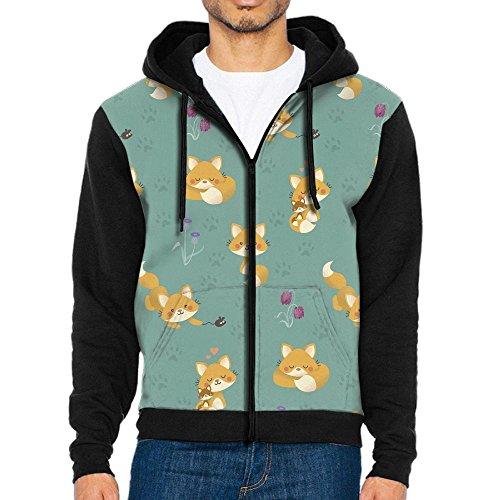 Fox Illusion Tee (KCNEH DSCMN Cute Fox Men's Pullover Hooded Sweatshirt Stylish Hoodies Long Sleeve T-Shirt)