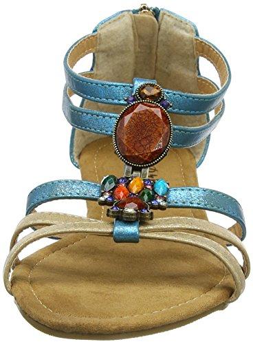 Con multi a Cinturino Joe A Donna Aransas Browns Tacco Port Col Multicolore T Scarpe Sandals WUaAO60UF