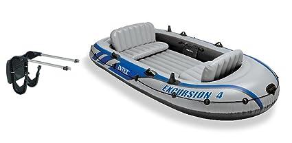 Amazon.com: Intex Excursion 4 hinchable River/Lake Boat Raft ...