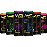 MATI Natural Healthy Energy Drink, 12 Ounce Each (Variety Pack Of 6 Cans)